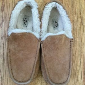 ⛷⛷UGG MEN ASCOT Leather Slippers- GUC Size 10